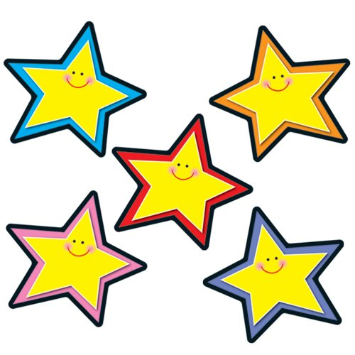 Carson Dellosa Stars Cut-Outs (Die Cut Star Shape)