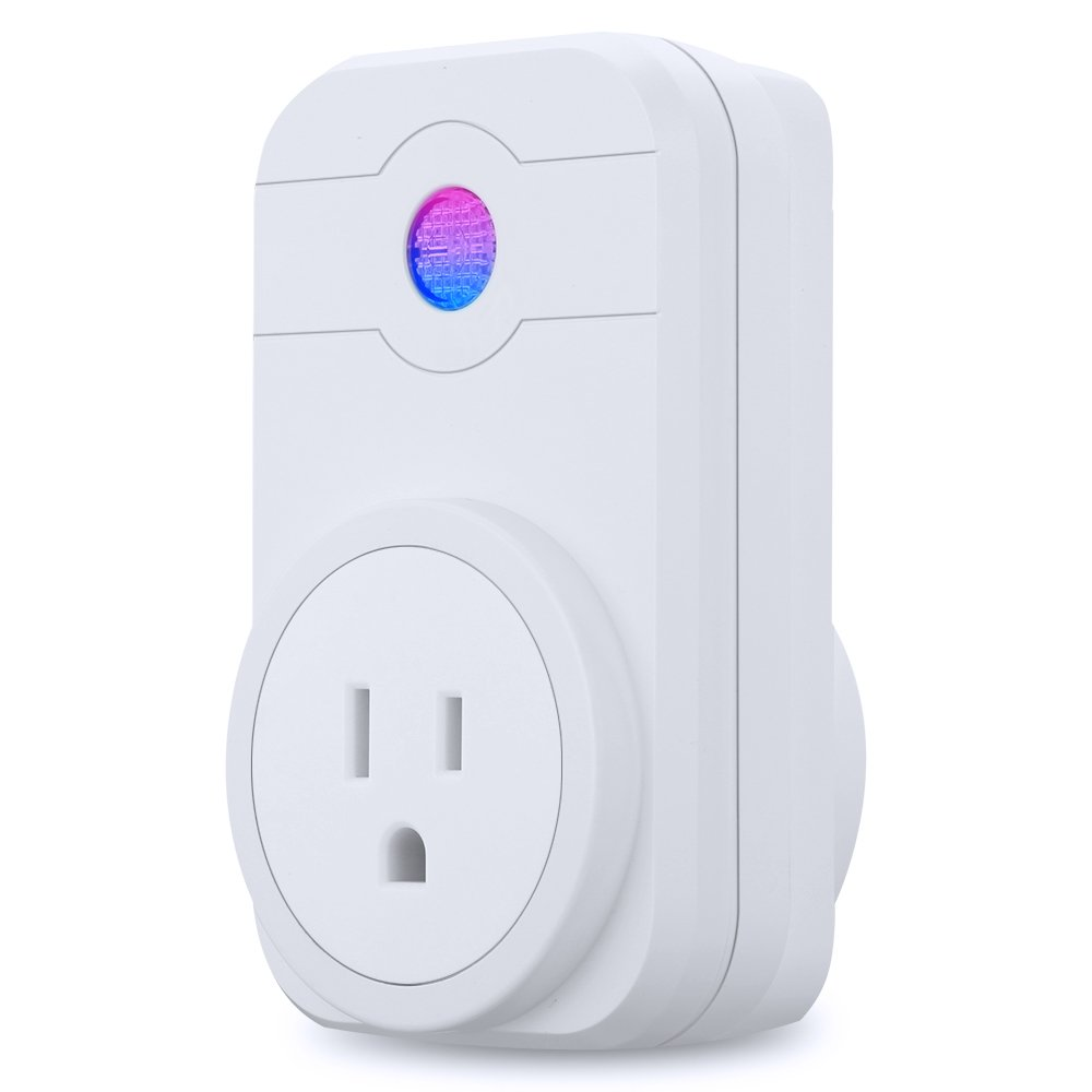 FLOUREON Smart Wi-Fi Socket Plug Outlet Timer Control Power ON/Off Electronics - Compatible with Amazon Alexa US Plug-Surge Protector