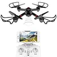DROCON Drone For Beginners X708W Wi-Fi Fpv Training Quadcopter With HD Camera Equipped With Headless Mode One Key Return Easy Operation from MJX RC