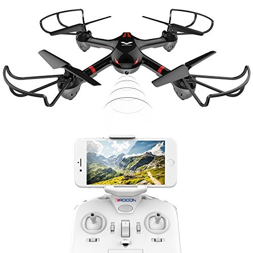 DROCON Drone For Beginners X708W Wi-Fi FPV Training Quadcopter With HD Camera Equipped With Headless Mode One Key Return Easy - Easy Return