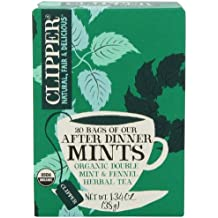 Clipper Fair Trade Organic Tea, After Dinner Mint, 20 Count (Pack of 6)
