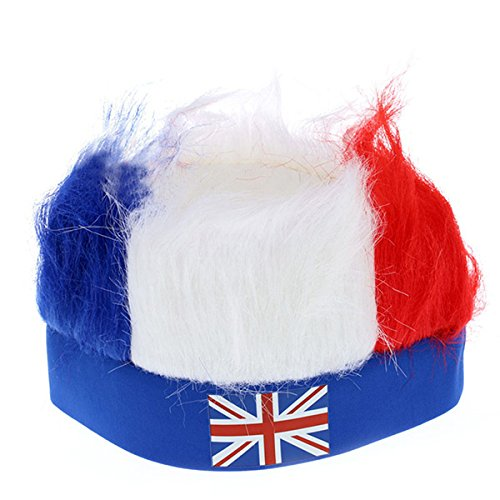 Russia World Cup Wig Hats With National Flag Masquerade Cheerleadings Wig World Cup Football 32 Striker Color Fans Wig UK