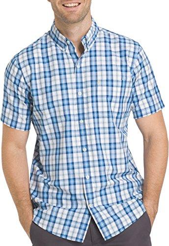 Performance easycare Plaid Short Sleeve Shirt, Heritage Blue, X-Large (Heritage Plaid Shirt)