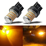 7440 led bulb - iBrightstar Newest 9-30V Super Bright Low Power 7440 7443 T20 LED Bulbs with Projector replacement for Turn Signal Lights or Brake Lights,Amber Yellow