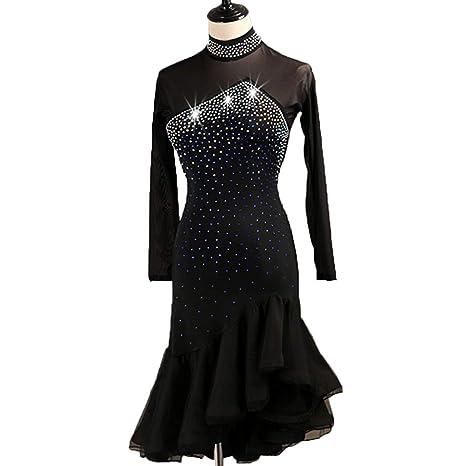 Vestido de Baile Rumba de Tango Latino para Mujer Falda de ...