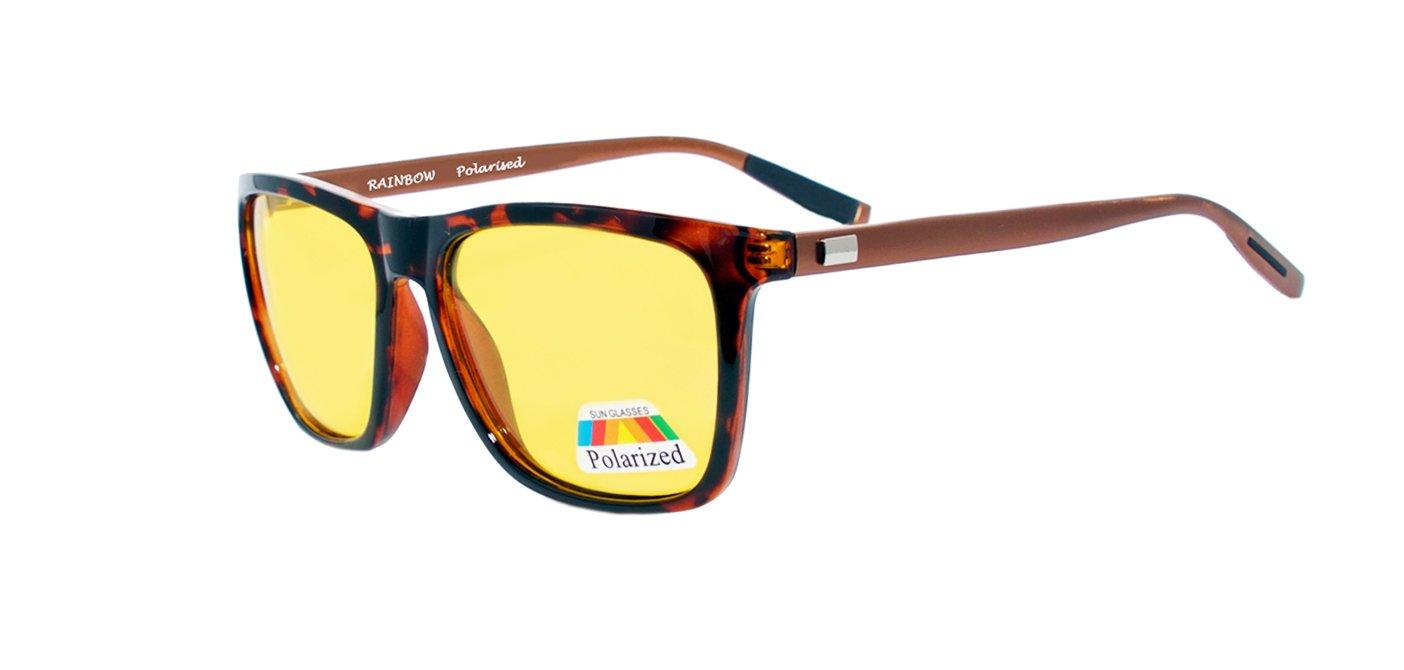 Occhiali per Guida Notturna Rainbow® / Occhiali Uomini & Donne Notte / Polarizzato / RWNP2 (RWNP2 Black) RAINBOW SAFETY