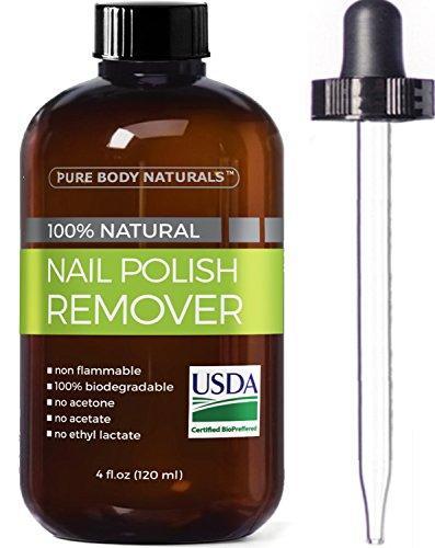 Pure Body Naturals Nail Polish Remover, 4 oz (Red Non Toxic Nail Polish compare prices)
