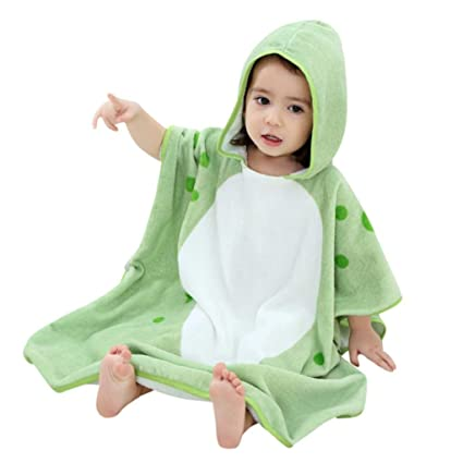 New Kids Towel Toddler 100% Cotton Bathrobe Baby Boys Girls Spring Animal Hooded Bath Towel Children Cartoon Towel Hot Towels Mother & Kids