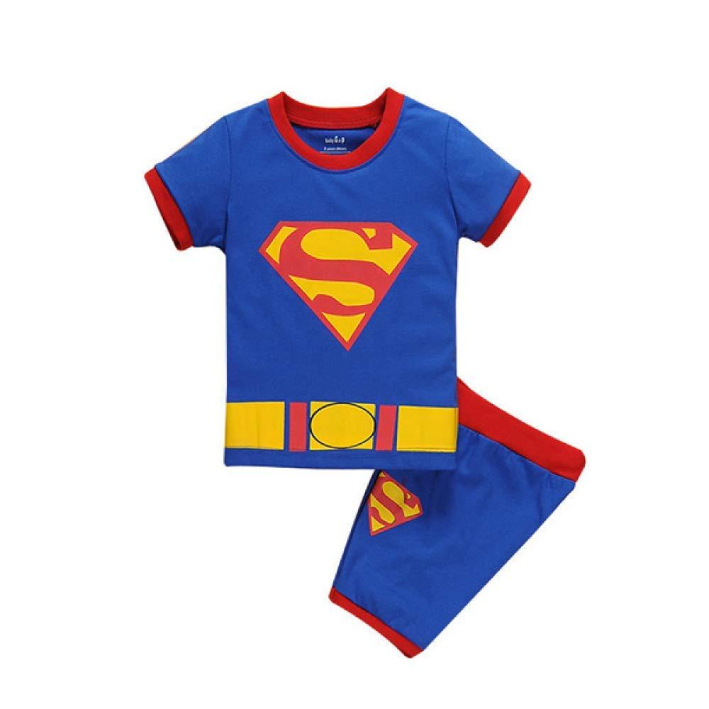 Boy Camiseta Traje Superman Manga Corta Spiderman Pijamas ...
