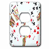 3dRose lsp_112895_6 Playing Cards Photography Deck Of Cards Photo Gift For Poker Bridge And Other Card Game Players 2 Plug Outlet Cover