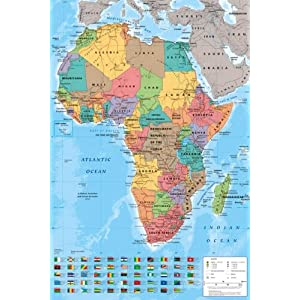 GB eye Ltd 61 x 91.5 cm Africa Map Maxi Poster, Assorted: Amazon