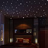 Brilliant Glow in The Dark Stars Dots Ceiling Decor Wall Stickers Luminous Decals Nursery Children Kids Room Decoration - Viahwyt (252Pcs)