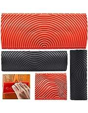 Houtnerf Schilderen Gereedschap, Tianher 4 Stks Imitatie Houtnerf Tool Rubber Empaistic Huishoudelijke Muur Art Verf Patroon DIY Craft Graining Schilderen Roller Borstel Home Accessoires voor Wanddecoratie.