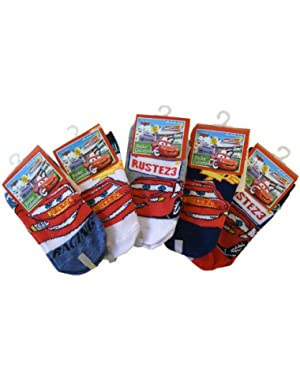 3 Piece Assorted Disney Cars Socks (Size 6-8) - Assorted Childrens Socks