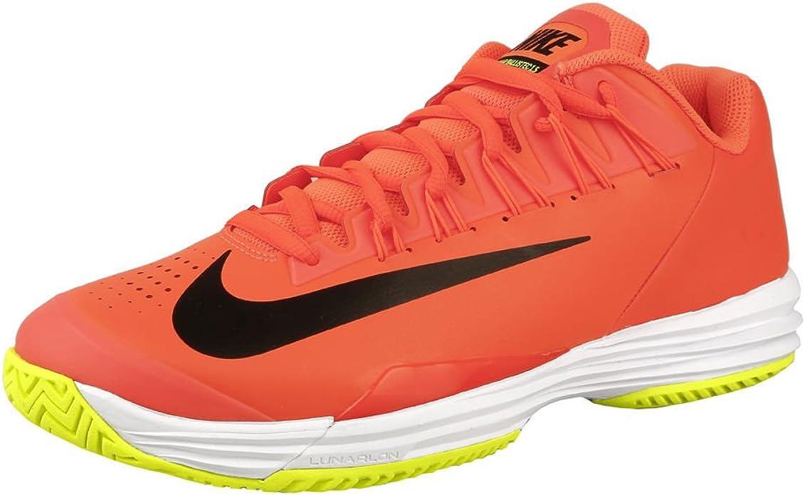 Rafael Nadal Lunar Ballistec 1 5 All Court Shoe Men Orange Black Mens 14 Amazon Co Uk Shoes Bags