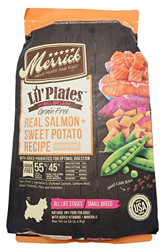 Merrick Lil Plates Grain Free Small Breed Recipe, 12-Pound,