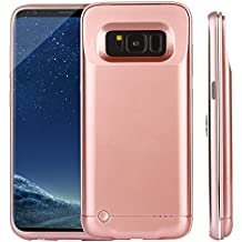 CXCase Galaxy S8 Battery Case, 4200mAh Ultra Slim Extended Battery Backup Charging Case Charger Pack Power Bank for Samsung Galaxy S8 - Rose Gold