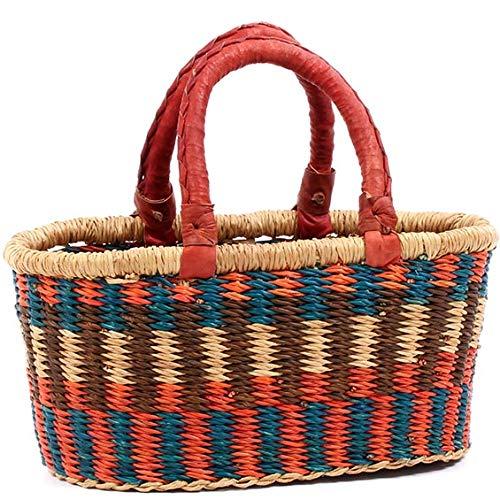 Shopper Fair Trade - Fair Trade Ghana Bolga African Mini Oval Shopper 10-12