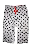 Disney Classic Mickey Mouse Womens Pajama Pants - Mickey Head Silhouette - Grey