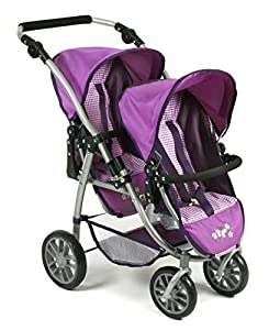 Bayer Chic 2000 689 28 Tandem Buggy Vario, purpur Checker, lila