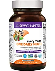 New Chapter Men's Multivitamin, Every Man's One Daily, Fermented with Probiotics + Selenium + B Vitamins + Vitamin D3 + Organic Non-GMO Ingredients - 48 Count (Pack of 1) (Packaging May Vary)