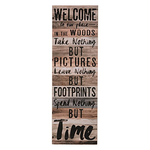 BLACK FOREST DECOR Time in The Woods Wall Sign