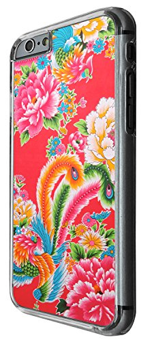 1284 - Cool Fun Trendy cute kwaii birds colourful wallpaper damask japanese chinese Design iphone 5C Coque Fashion Trend Case Coque Protection Cover plastique et métal - Clear