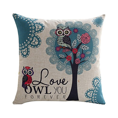 ME-COO-Cute-Owls-Couple-Lovely-Kids-Bedding-Sets-Cojine-Seat-Cushion-Cases-Pillow-Case-Home-Textile-Decorate-Throw-Pillowcase-18--18Inches-1pcs