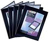 Rexel A4 24 Pocket Clearview Display Books - Black (Pack of 5)
