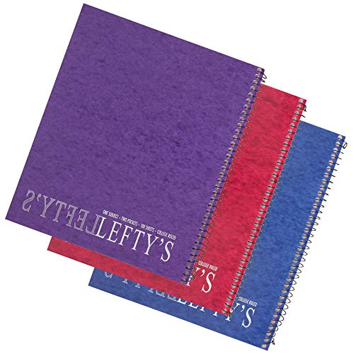 Left Handed College Ruled Notebook Printed with
