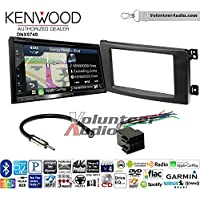 Volunteer Audio Kenwood DNX574S Double Din Radio Install Kit with GPS Navigation Apple CarPlay Android Auto Fits 2008-2010 Smart Fortwo