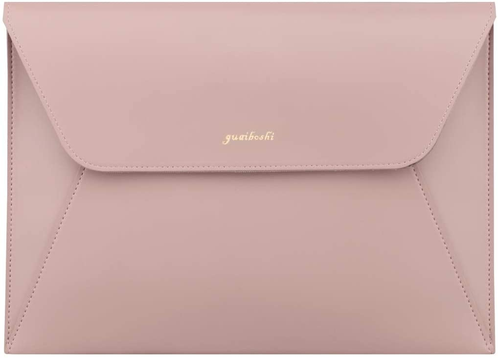 Slim Tablet Sleeve Case for 10.9-inch New iPad Air 4, 11-inch iPad Pro, 10.5 iPad Air/Pro, 10.2 iPad, Microsoft Surface Go 2/1, Samsung Galaxy Tablet,PVC Leather Bag with Pen Holder-Pink