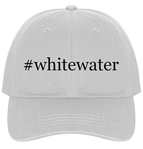 The Town Butler #Whitewater - A Nice Comfortable Adjustable Hashtag Dad Hat Cap, White