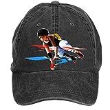 Nusajj Mirror's Edge Catalyst Unstructured 100% Cotton Sports Caps Design for Males Black One Size