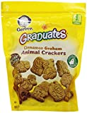 Gerber Graduates Animal Crackers Pouch, Cinnamon Graham, 6 Ounce (Pack of 4)