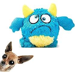 NEILDEN Dog Plush Ball Toys for Durable Squeaky Plush Doll Stuffed Animal Toy Interactive Plush Pet Toys Bouncer Dog Toys for Exercise Entertainment
