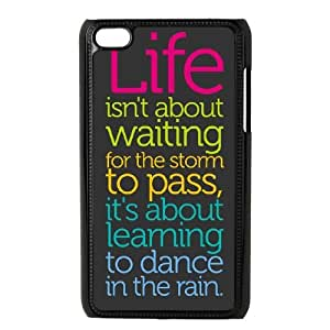 DIY iPod Touch 4 Case, Zyoux Custom New Fashion iPod Touch 4 Cover Case - I believe in pink I believe that laughing is the best