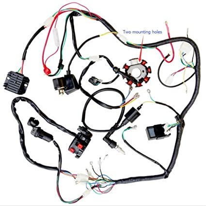 amazon com 200cc 250cc atv quad full electrics cdi coil rectifier rh amazon com Ford Wiring Harness Kits 250cc scooter wiring harness