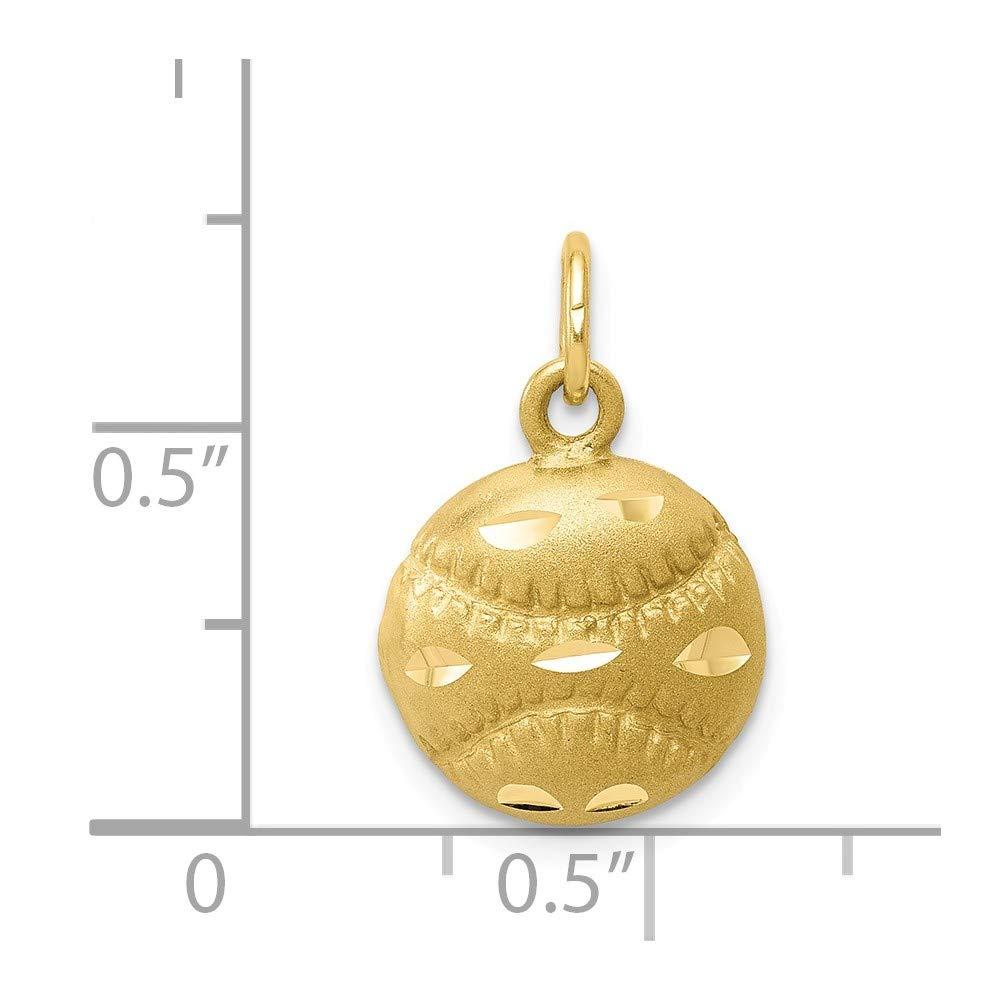10k Yellow Gold BASEBALL CHARM