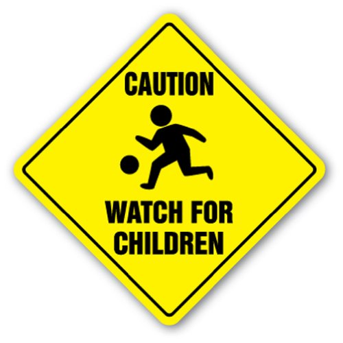CAUTION-WATCH-FOR-CHILDREN-SIGN-signs-slow-playing-at-play-safety