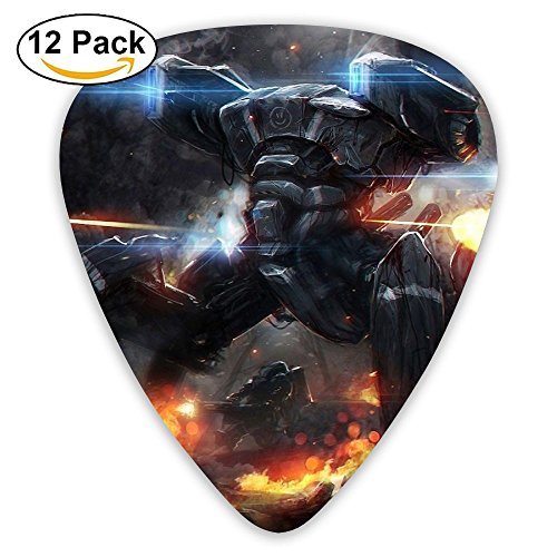 HaSaKa Robots Machinery Fire War Shooting Guitar Pick 0.46mm 0.73mm 0.96mm 12pack,Suitable For All Kinds Of Guitars