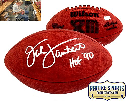 (Jack Lambert Autographed/Signed Wilson Authentic Super Bowl 13 NFL Football with
