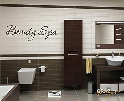 Adesivo da parete con scritta beauty spa per bagno da parete