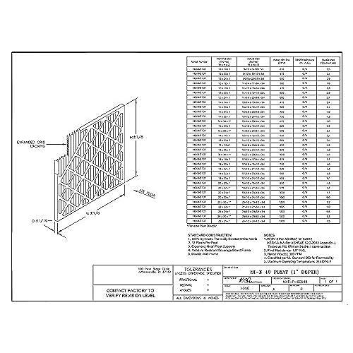 16 Width x 25 Height x 1 Diameter Sterling Seal FI-6501-SP1x2 Purolator Hi-E 40 Extended Surface Pleated Air Filter Pack of 2 Mechanical MERV 8