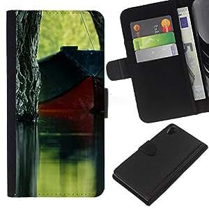 Ihec-Tech / Flip PU Cuero Cover Case para Sony Xperia Z2 D6502 D6503 D6543 L50t - Plant Nature Forrest Flower 62
