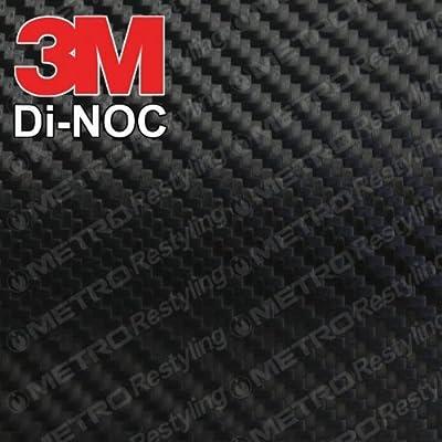 3M CA-1170 DI-NOC GLOSS BLACK CARBON FIBER 4ft x 1ft (4 sq/ft) Flex Vinyl Wrap Film: Automotive
