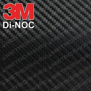 3M CA-1170 DI-NOC GLOSS BLACK CARBON FIBER 4ft x 1ft (4 sq/ft) Flex Vinyl Wrap Film
