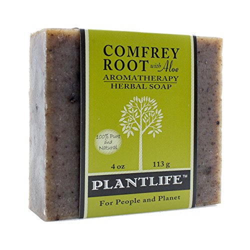 PLANTLIFE Comfrey Root With Aloe Aromatherapy Soap, 4 Ounce