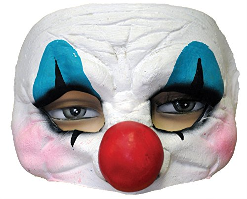 Ghoulish Happy Clown Half Style Theme Party Latex Mask Halloween Costume Accessory