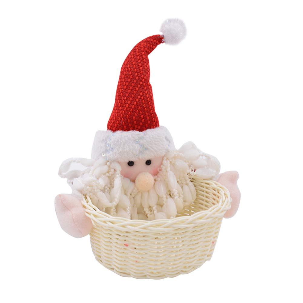 iodvfs Carino Mini Candy di Natale, Babbo Natale Snowman Gift Storage, Holder Santa Claus